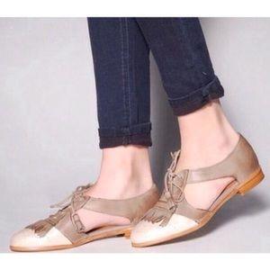 Jeffrey Campbell Kelley Brogue Oxford Shoes Sz 8.5
